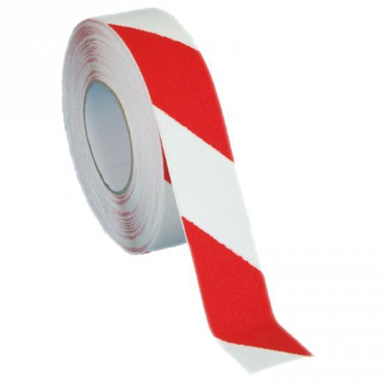 Protiskluzová páska jemnozrná červeno/bílá PERMAFIX