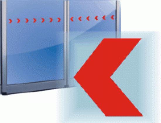 Označení prosklených ploch - šipka 5 cm- různé barvy