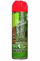 Lesnický značkovací sprej Fluo Marker Soppec červerný 500ml