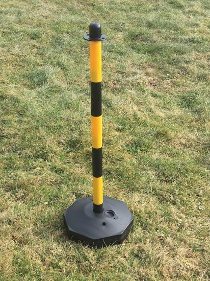 Plastový sloupek žluto/černý 90cm