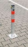 Parkovací sloupek sklopný ZINKOVANÝ zámek FAB