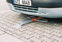 Parkovací sloupek sklopný Motýlek - zink. - trojhran