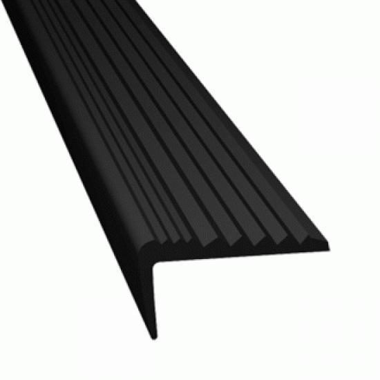 Protiskluzový profil rohový RUBBER STOP - ČERNÝ - 5 m