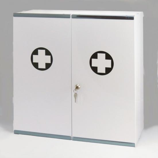 Kovová lékárnička dvoudveřová - bez náplně