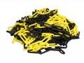 Plastový řetěz žluto černý 25m, průměr článku 6mm