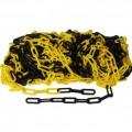 Plastový řetěz, žluto černý 50m na cívce, průměr článku 6mm
