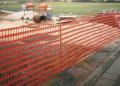 Výstražný plot oranžový stavební 10mx1m