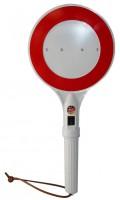 Zastavovací terč svítící žárovka červená