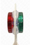 Zastavovací terč svítící žárovka - červená/zelená